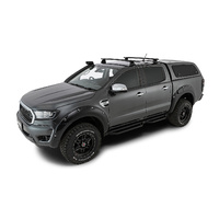 RHINO VORTEX 2500 Black 2 Bar Roof Rack Kit (Ranger PX 1,2,3 & Mazda BT50)